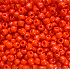Japanese Seed Beads Size 6-406- Opaque Orange