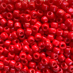 Japanese Seed Beads Size 6-408- Opaque Red