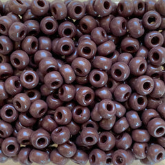 Japanese Seed Beads Size 6-409- Opaque Chocolate