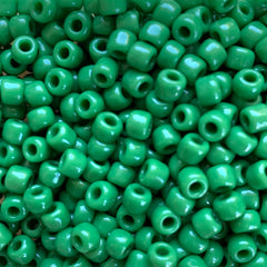 Japanese Seed Beads Size 6-411- Opaque Med Green
