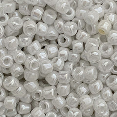 Japanese Seed Beads Size 8-420 Opaque Luster White