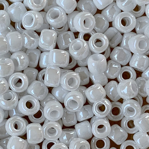 Japanese Seed Beads Size 6-420 - Opaque Luster White