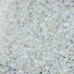 Japanese Seed Beads Size 11 500 Transparent Rainbow - Crystal