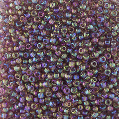 Japanese Seed Beads Size 11 507 Transparent Rainbow - Lt Amethyst