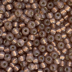 Japanese Seed Beads Size 8-581 Gold Lined - Light Brown