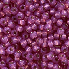 Japanese Seed Beads Size 8-585  Gold Lined - Watermelon