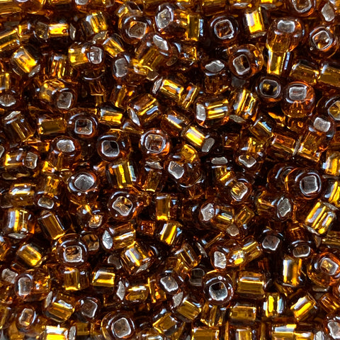 Japanese Seed Beads Size 6-005 - Silverlined Smoky Topaz