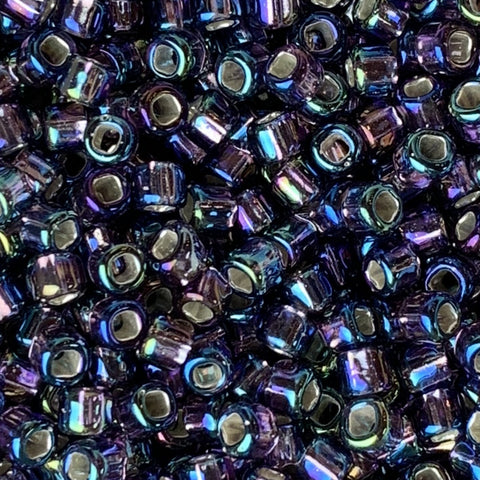 Japanese Seed Beads Size 8-639 Silverlined Amethyst AB
