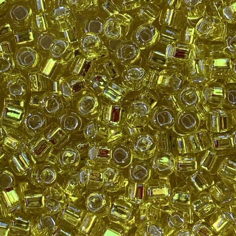Japanese Seed Beads Size 8-006  Silverlined Yellow