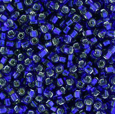 Japanese Seed Beads Size 8-020  Silverlined - Cobalt