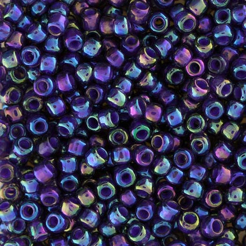 Japanese Seed Beads Size 8-356B Colorlined - Purple Rainbow