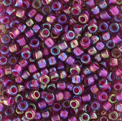 Japanese Seed Beads Size 8-356G Colorlined - Magenta AB