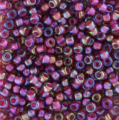 Japanese Seed Beads Size 8-356K Colorlined - Rose