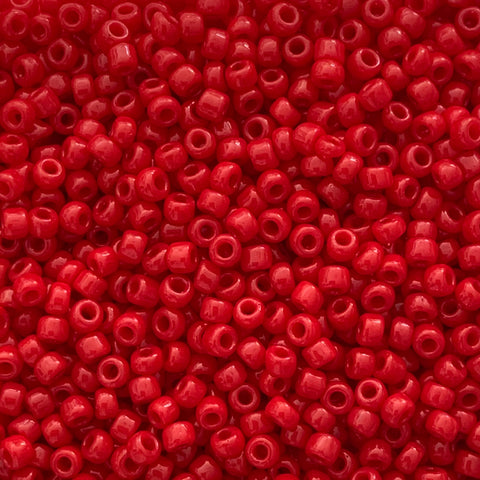 Japanese Seed Beads Size 15-828 Opaque - Light Red