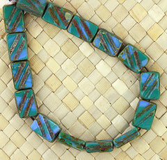 Czech Picasso-8x13m-Blue Green - 15 pcs
