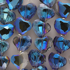 Chinesse Crystal - 22m Heart-Blue Iris - 10 pcs