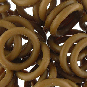 Silicone Rings - Brown - 100 pcs aprox.