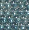 Czech Glass -  6m Round - Luster Transparent Blue