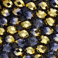 Chinese Crystal - 14x18m Rondels - Crystal Gold - 12 pcs