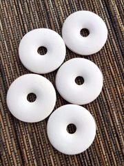 Ceramic Unglazed - 42m Donut - 5 pcs