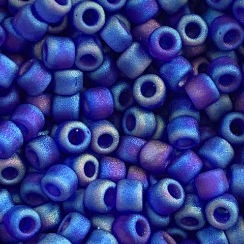 Japanese Seed Beads Size 8 - F177 Transparent Matte - Blue AB