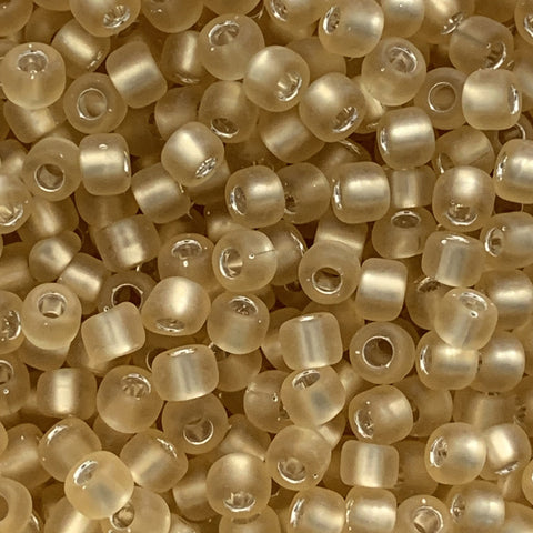Japanese Seed Beads Size 8-F003 Silverlined Matte-Light Gold