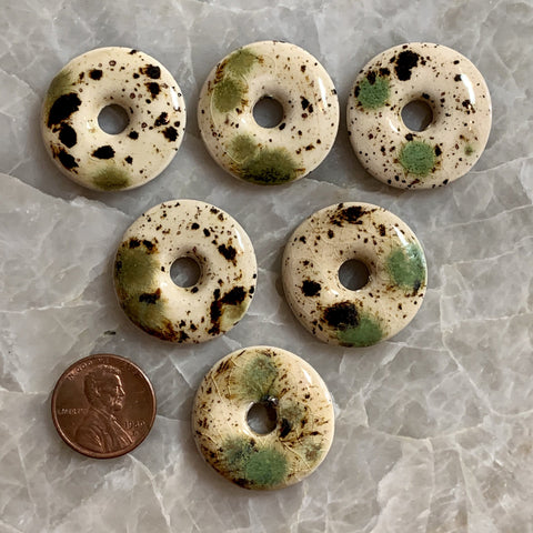 Ceramic Donut - Cream Galaxy 26mm - 6 pcs