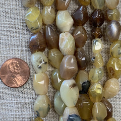 Gemstone Beads - Shapes - Opal Agate - Medium Nugget - 16 Inch strand