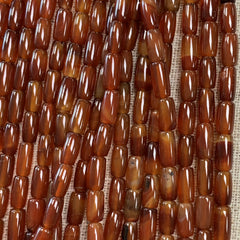 Gemstone Beads - Shapes - Carnelian Tube- 16 Inch strand