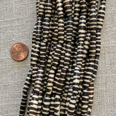 Bone & Shell Beads - Bone - Stripes - 16 Inch Strands