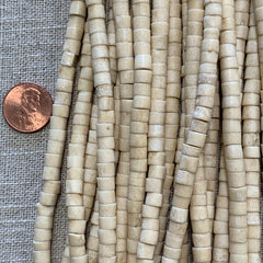 Bone & Shell Beads - Bone - Heishi - 16 Inch Strands
