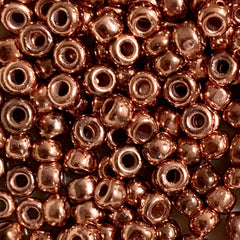 Unique Seed Beads -  Japanese Size 6 Y750  Copper Penny Metallic - 16 Grams