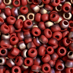 Unique Seed Beads -  Japanese Size 6 Y854F Pepper Red Apollo - 16 Grams
