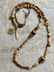 Finished Jewelry- Necklace - Bone/White Bronze Clasp