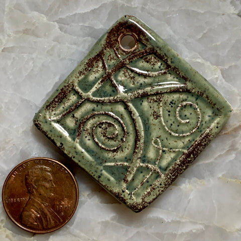 Ceramic Pendants - 37x37 Rombo - Mint Chip
