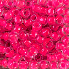 Japanese Seed Beads Size 3 - 207C Neon Pink - 30 Grams