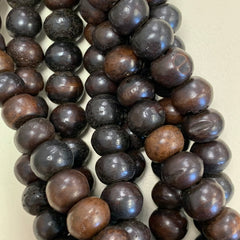 Bone & Shell Beads - Bone - Large Brown Round - 16 Inch Strands