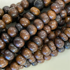Bone & Shell Beads - Bone - Medium Brown Round - 16 Inch Strands