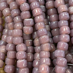 Earthy Glass Beads - 9m Pony Bead - Opaque Lavendar