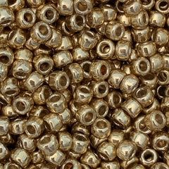 Japanese Seed Beads Size 8-471P Metallic - Gold Permanent Finish