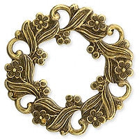 Antique Brass - Frame - 27mm Flowers