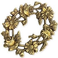 Antique Brass - Frame - 40x50mm Flowers