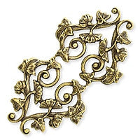 Antique Brass - Filigree - 30x57mm Swirl Leaves