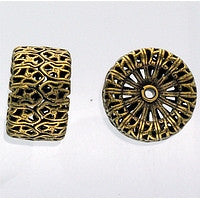 Antique Brass - Filigree - 11x18mm Filigree Bead