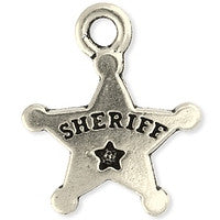 2284 Drop Sherrif's Badge 2 pcs/per pack