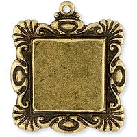 Antique Brass - Frame - 22mm Raiseel Square