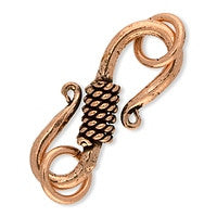 Copper - 10x25mm S Hook Clasp - 1 set
