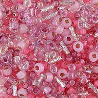 Japanese Seed Beads Mix - 10 Pink