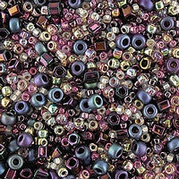 Japanese Seed Beads Mix - 13 Free Form Purple