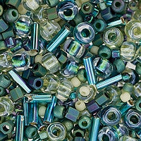 Japanese Seed Beads Mix - 14 Sea Foam